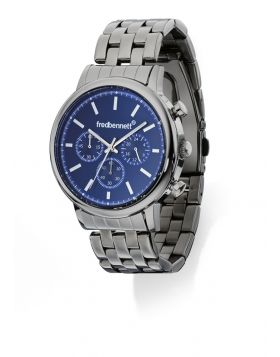 Blue Dial Stainless Steel Watch