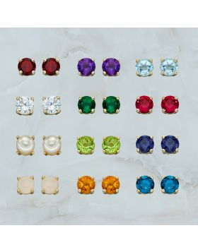 Gold Birthstone Earring CZ Kit (GZ1338)