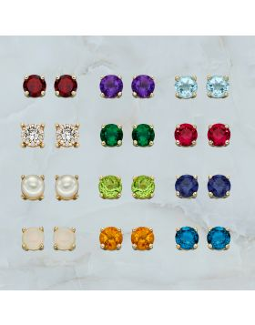 Gold Birthstone Earring Diamond Kit (GZ1340)
