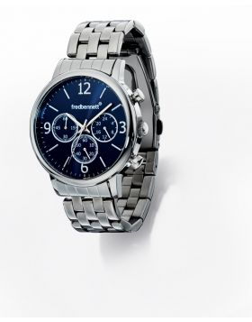 Stainless Steel Strap and Blue Dial Watch