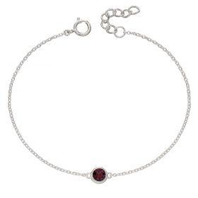 Birthstone Bracelet with Swarovski Crystal