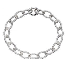 Textured Link Charm Carrier Bracelet (B5308)