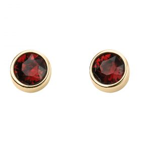 Yellow Gold Plated Birthstone Earrings with Swarovski Crystal