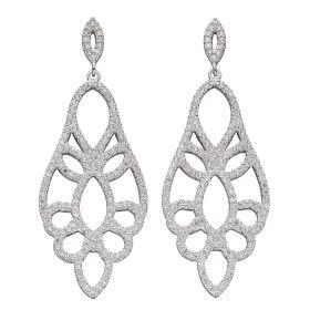 Lace Effect CZ Statement Earrings (E5913C)
