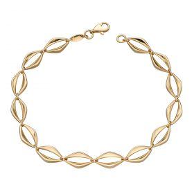Open Eye Link Bracelet in Yellow Gold (GB487)