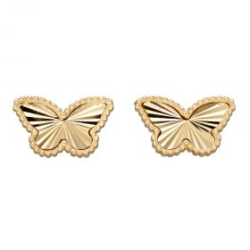 Butterfly Earring Studs in Yellow Gold (GE2349)