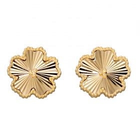 Flower Earring Studs in Yellow Gold (GE2350)