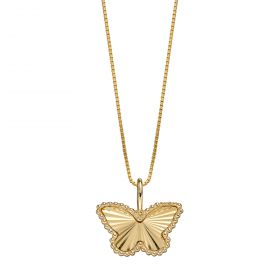 Butterfly Pendant in Yellow Gold (GP2248)