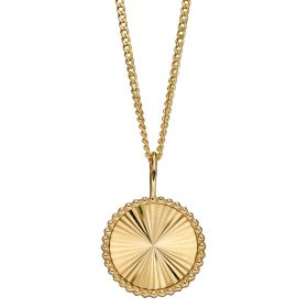 Granulation and Brushed Surface Disc Pendant (GP2265)