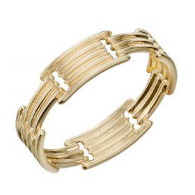Column Long Bar Ring in Yellow Gold (GR578)