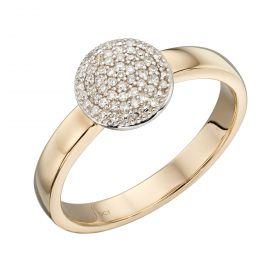 Full Circle Diamond Ring in Yellow Gold (GR581)