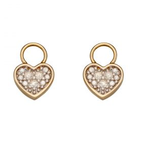 Heart Diamond Charms in Yellow Gold (GY016)