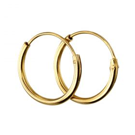 Yellow Gold Plated 10mm Plain Hoops (H251)