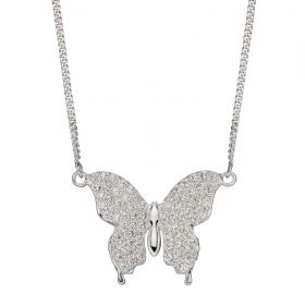 Butterfly CZ Necklace (N4408C)