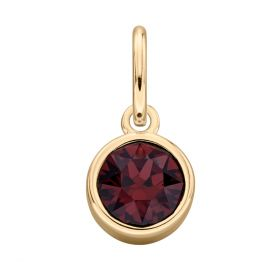 Yellow Gold Plated Crystal Birthstone Pendant