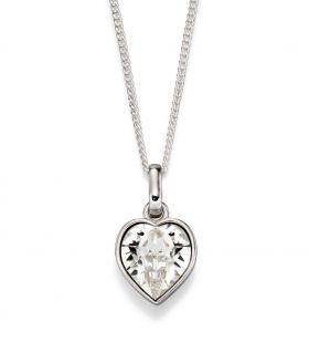 Swarovski 'Crystal' Heart Pendant (P4849)