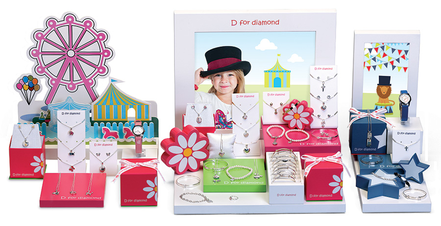 D for diamond Fairground theme
